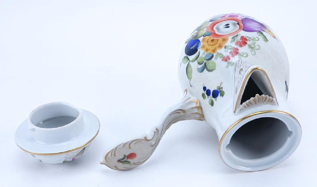 Herend Porcelain Fruits and Flowers Chocolate Pot. - 2