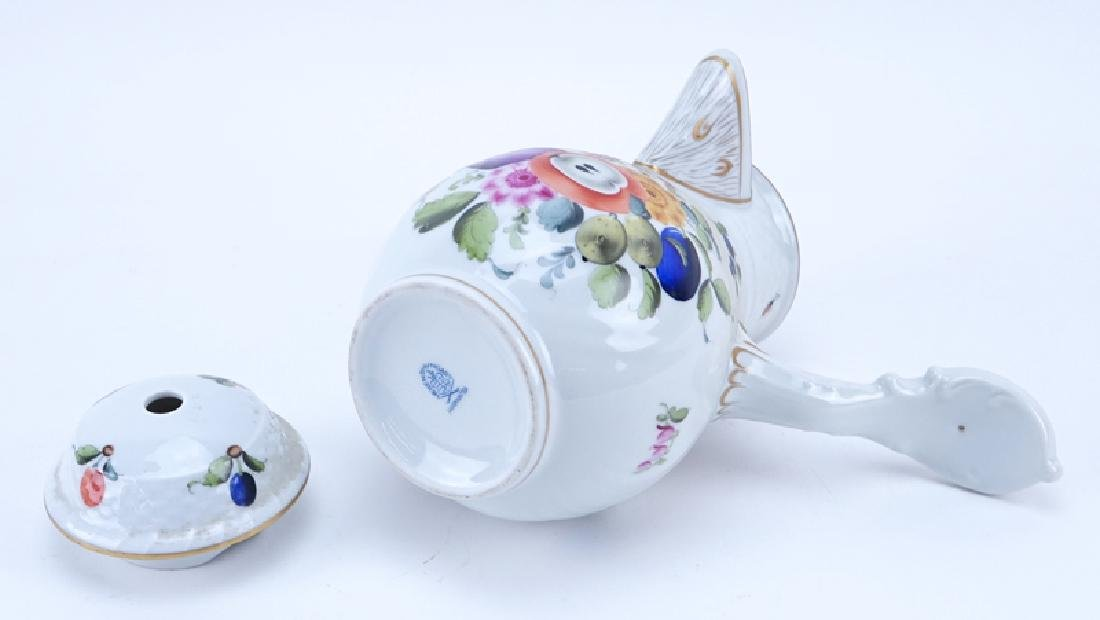 Herend Porcelain Fruits and Flowers Chocolate Pot. - 3