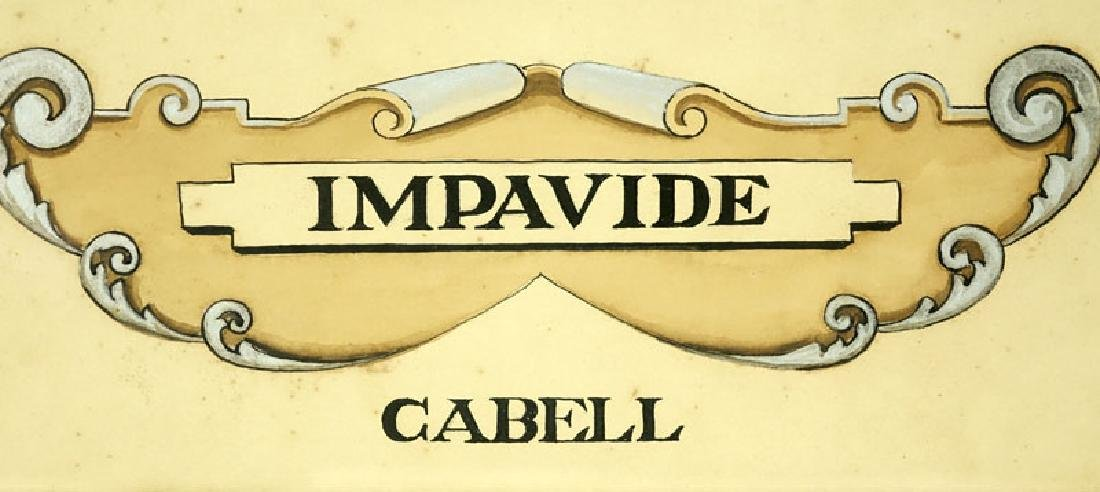 Antique Painting of Impavide Cabell Coat of Arms on - 4