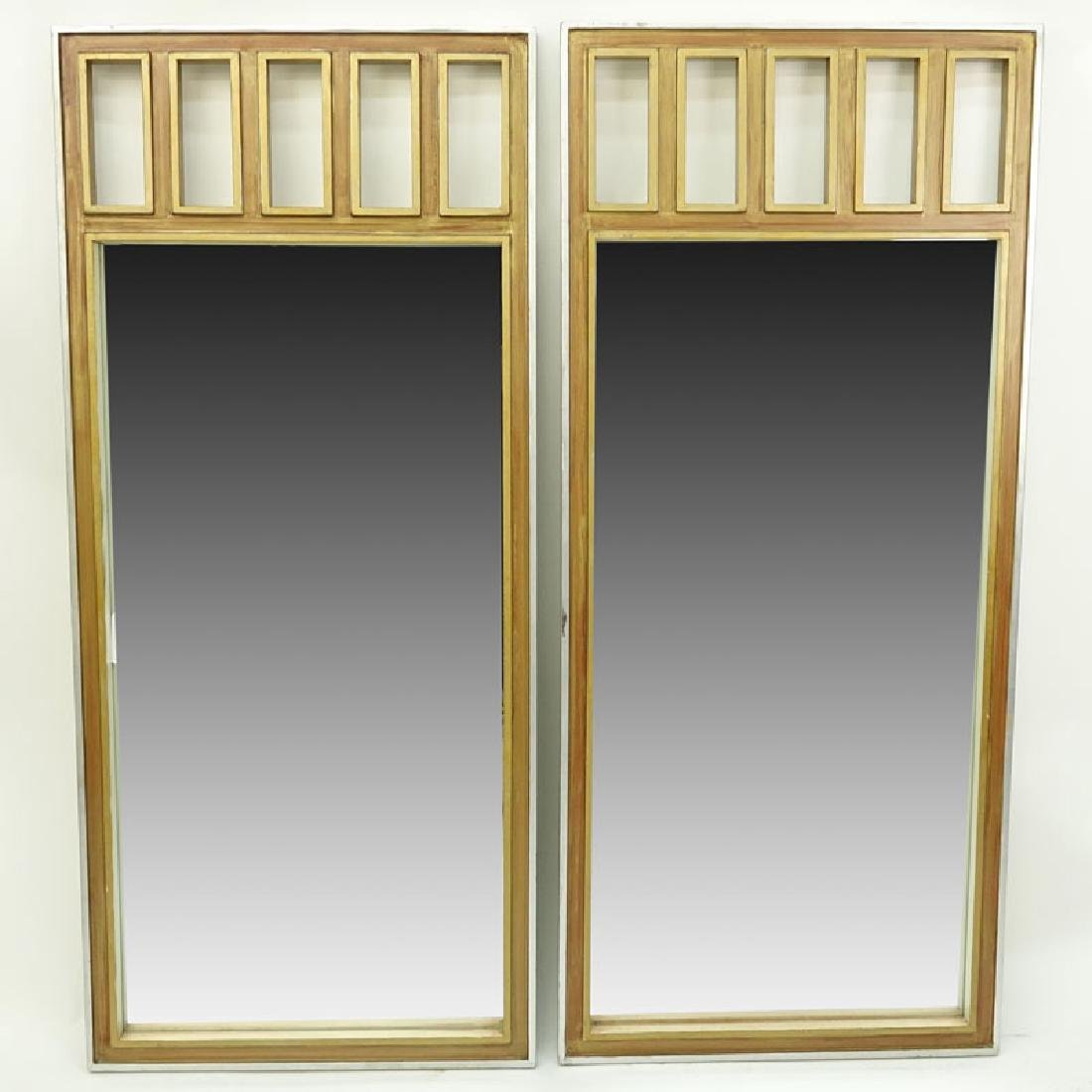 Pair of Mid to Late 20th C. Mirrors with Painted