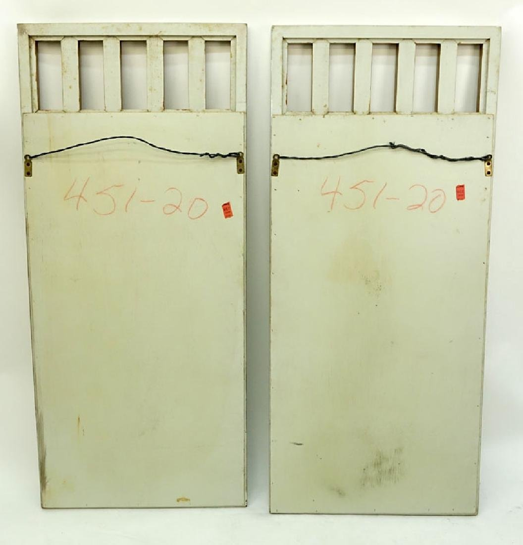 Pair of Mid to Late 20th C. Mirrors with Painted - 2