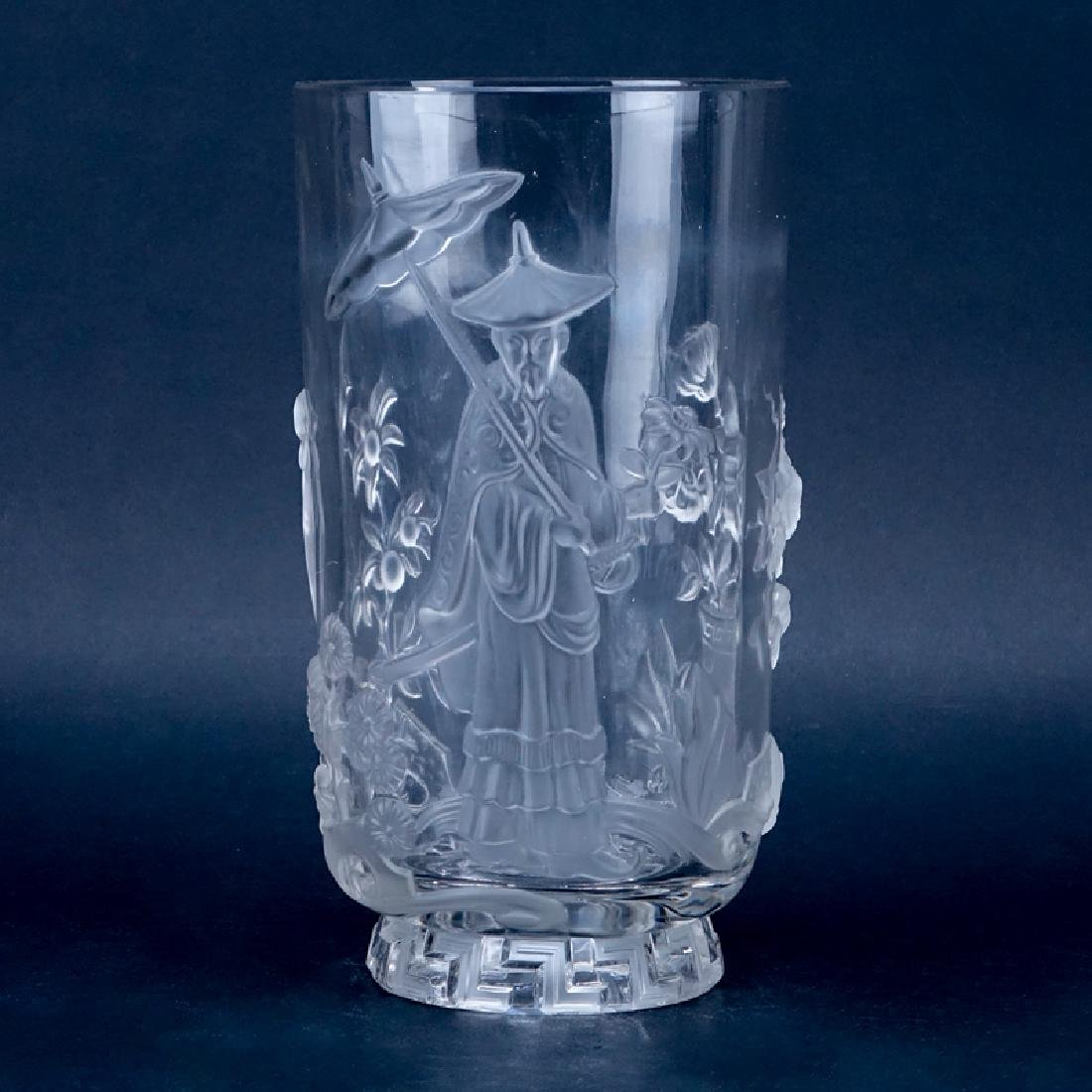 Verlys French Art Deco Molded Clear and Frosted Crystal