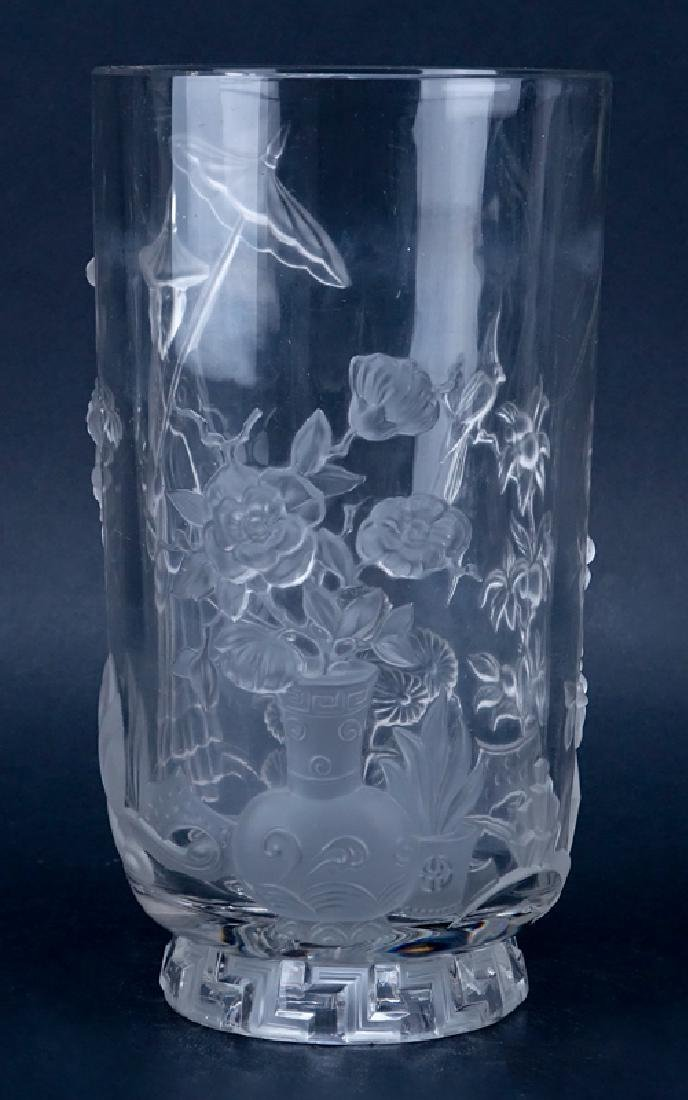 Verlys French Art Deco Molded Clear and Frosted Crystal - 2