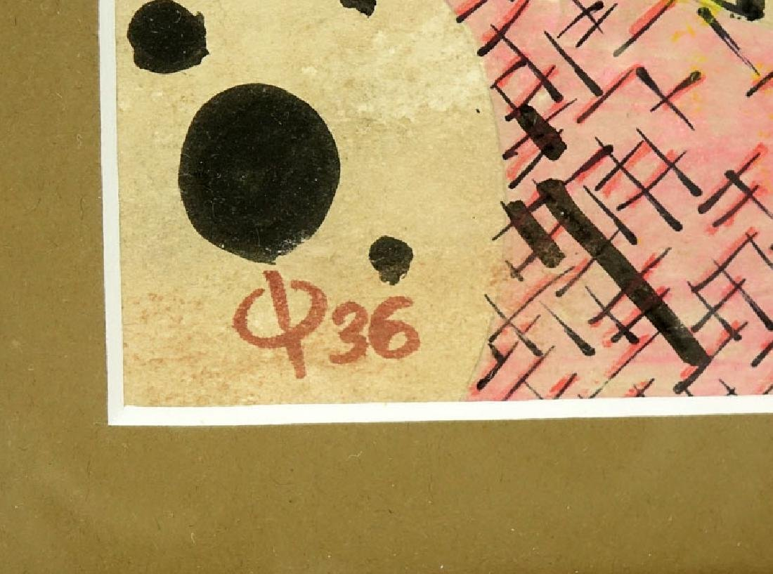 "1930's German School Ink and Gouache On Paper ""Abstract - 4"