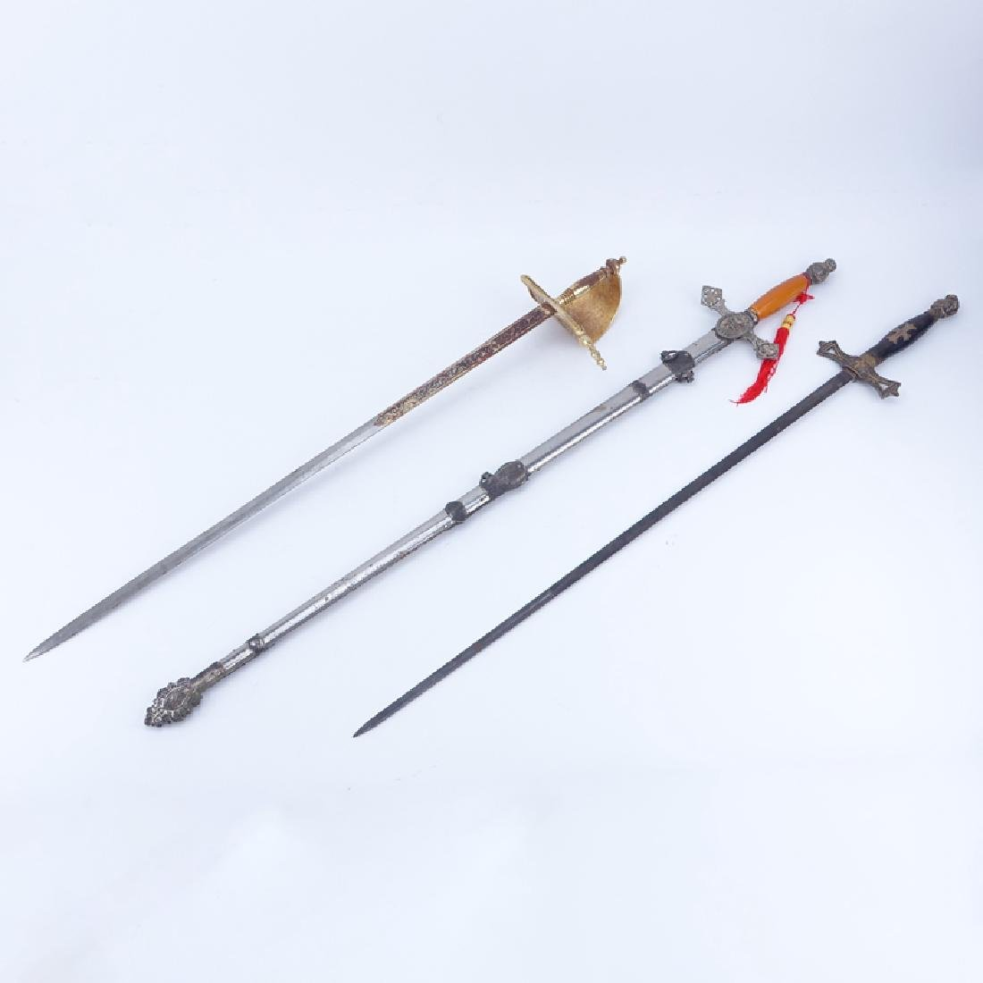 Collection of Three (3) Knights Templar Masonic Style