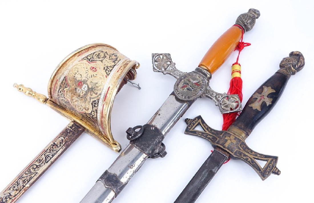 Collection of Three (3) Knights Templar Masonic Style - 2