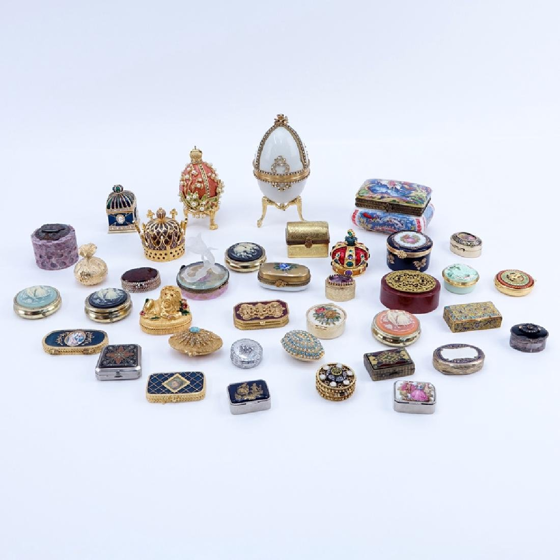 Collection of 38 Miniature Boxes. Various makers and