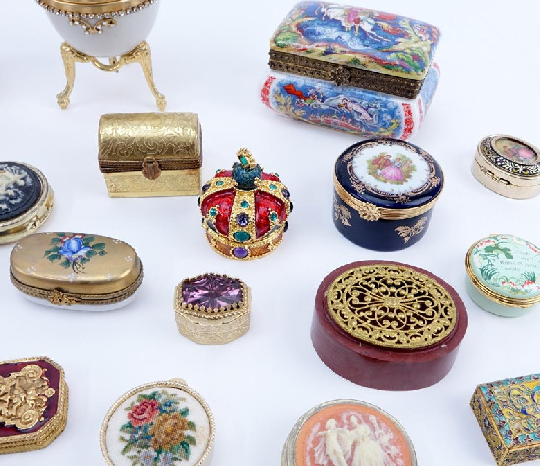 Collection of 38 Miniature Boxes. Various makers and - 2