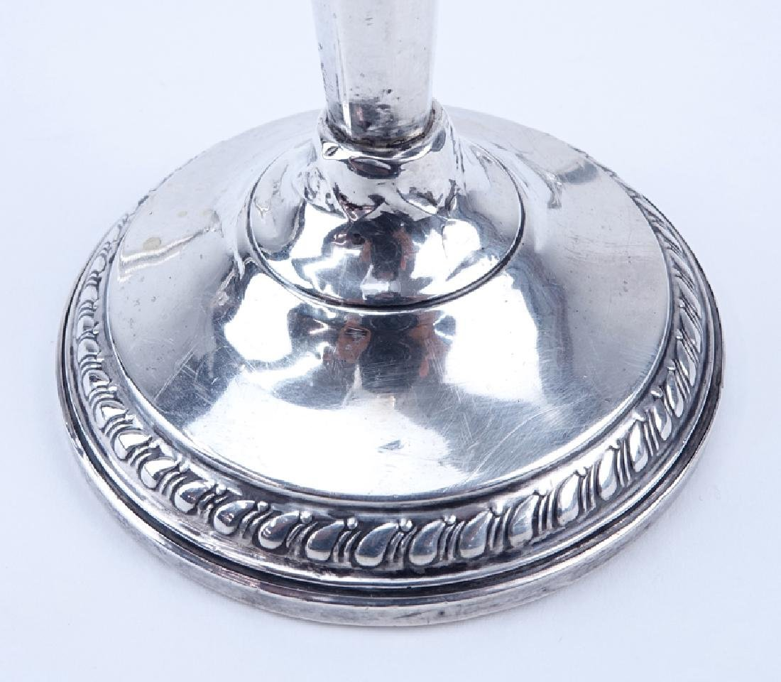 Two (2) Pair Weighted Sterling Silver Candlesticks. - 3