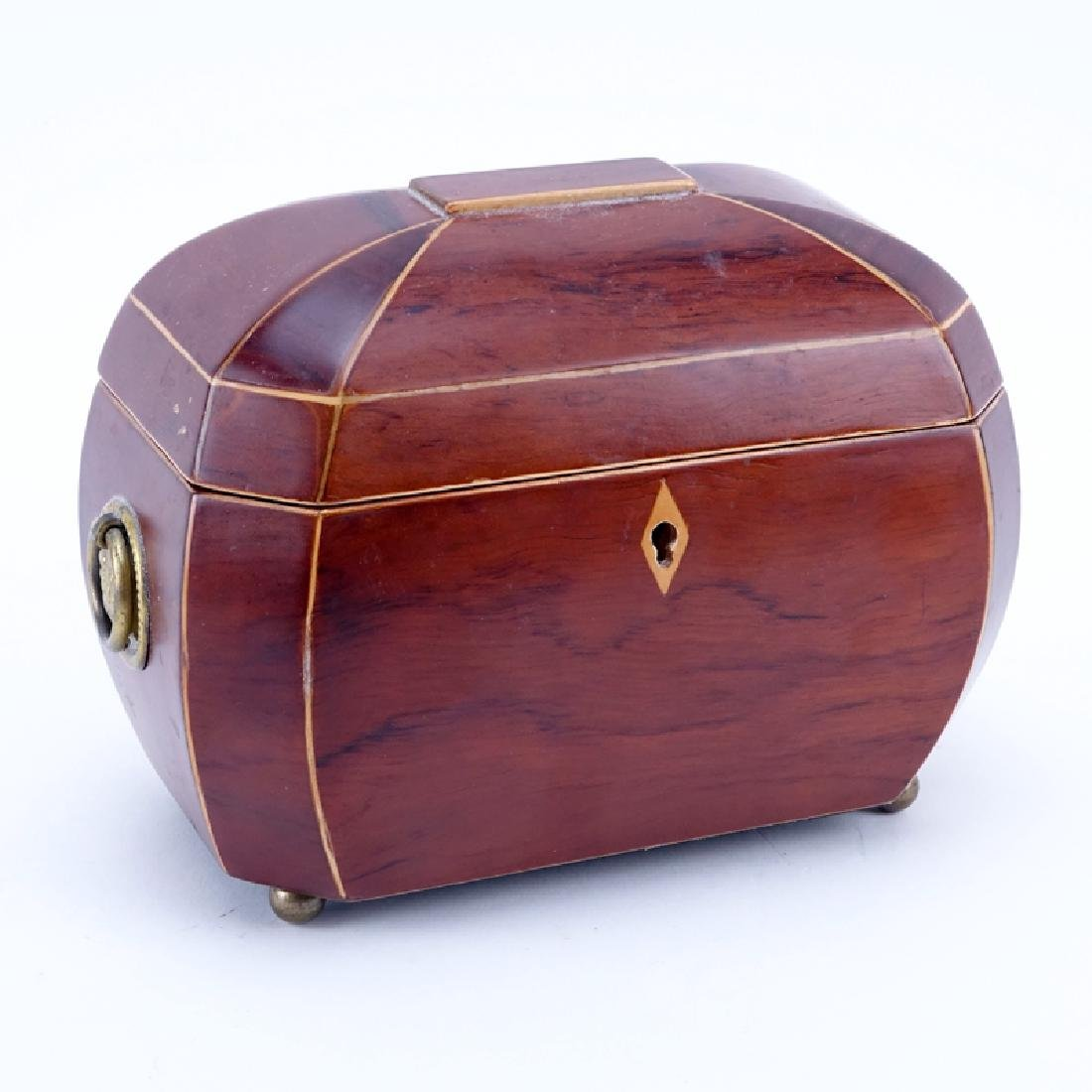 Modern Wooden Jewelry Box with Brass Handles and Ball