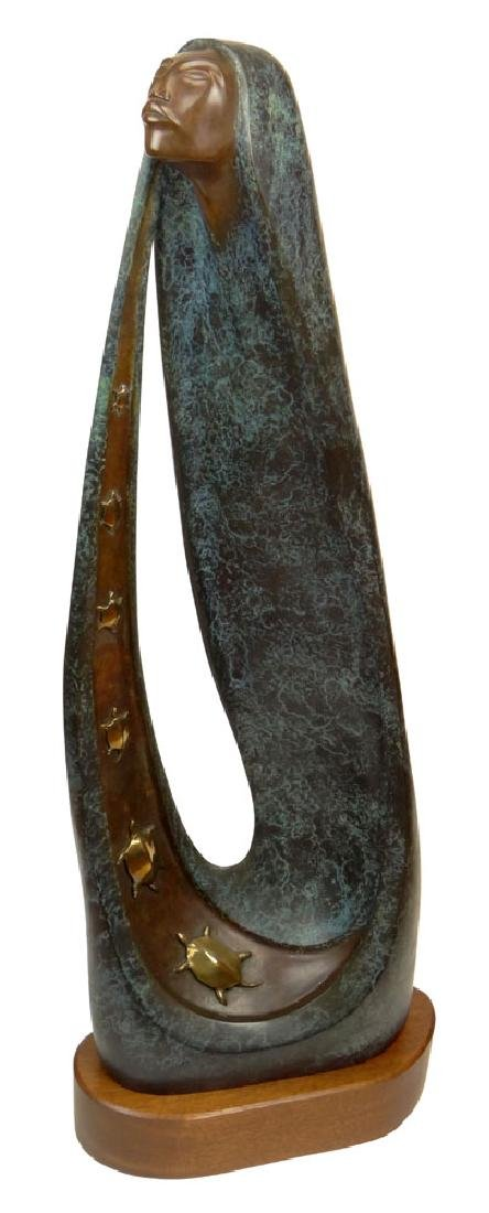 Bruce LaFountain, American (1961 - ) Bronze on Wood