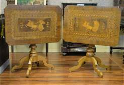 Lot of Two (2) Associated 19th Century Italian Inlaid