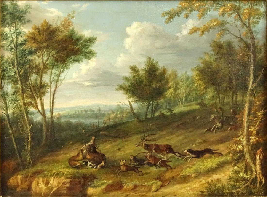 Friedrich Wilhelm Hirt, German (1721-1772) Oil on