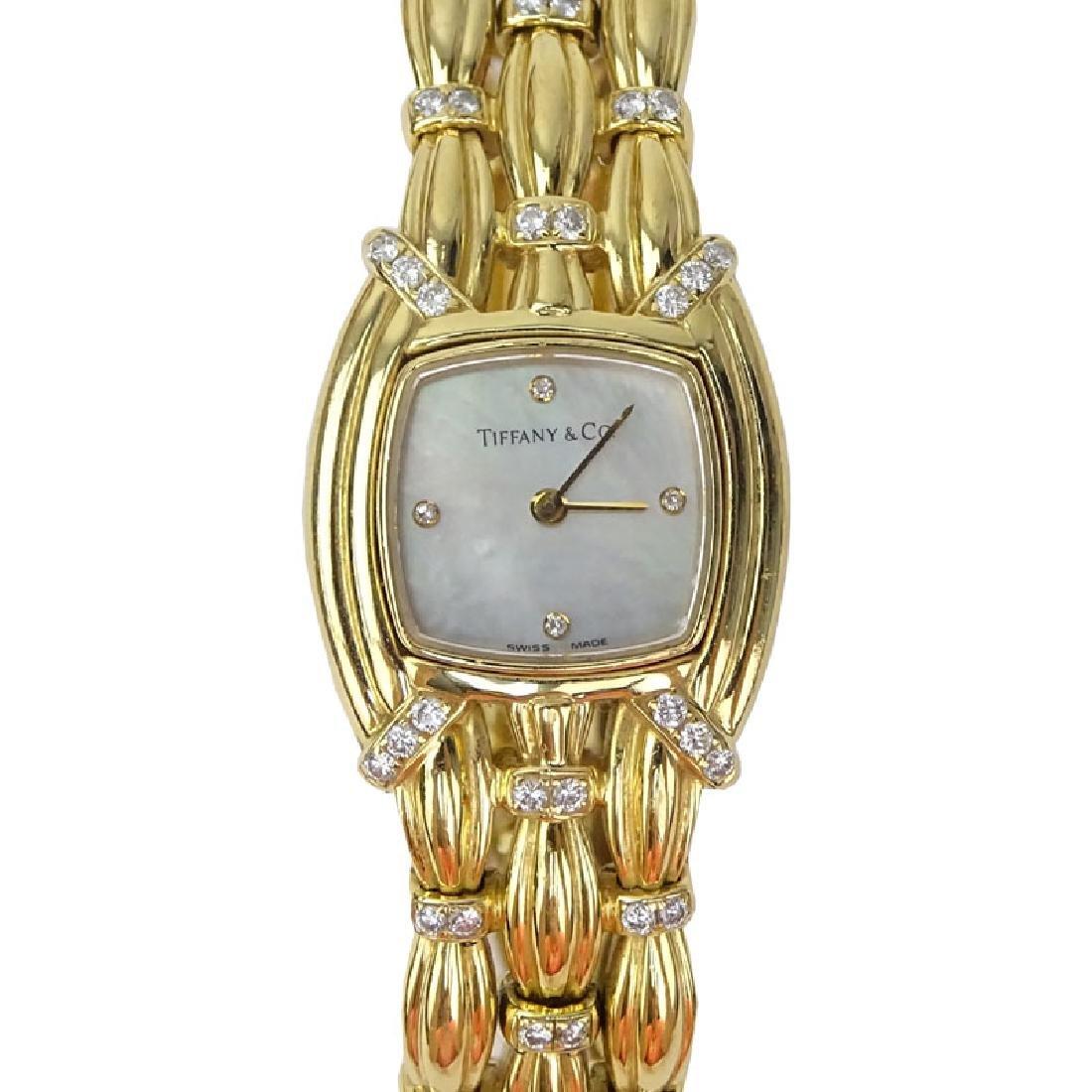 Tiffany & Co 18 Karat Yellow Gold and Diamond Signature