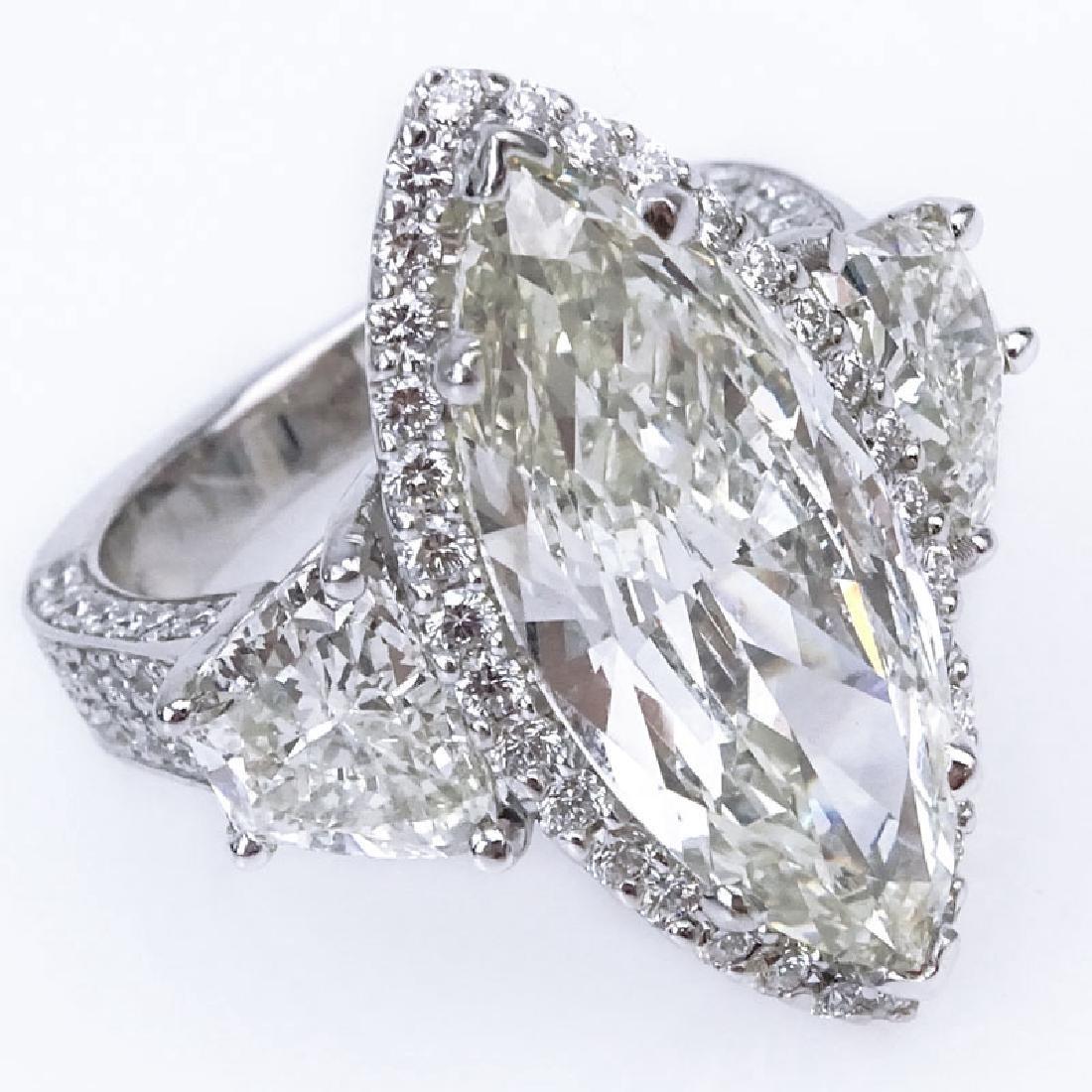 Approx. 10.64 Carat TW Diamond and 14 Karat White Gold