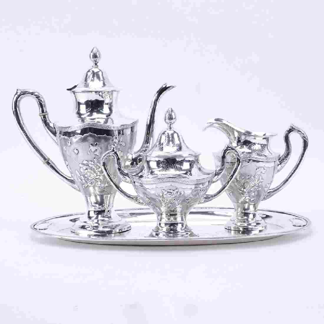 Vintage Chinese Yeching Sterling Silver Four (4) Piece