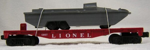 "5: Lionel #6807 United States Marine Corp. ""Duck"" Car."