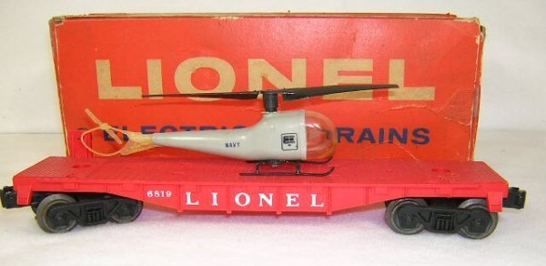 15: Lionel #6819 Flatcar With Helicopter (Type C Helico