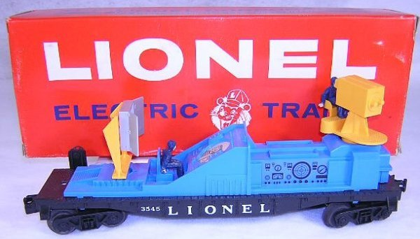681: Lionel #3545 Operating TV Monitor Car. (Blue) Very