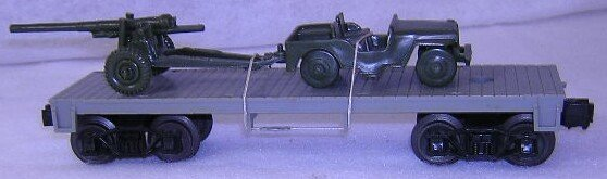 959: Lionel  J.C Penney  Unlettered Grey Flatcar With J