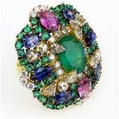 Contemporary Approx 728 Carat Emerald 592 Carat