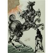 After: Salvador Dali, Spanish (1904 - 1989) Color wood