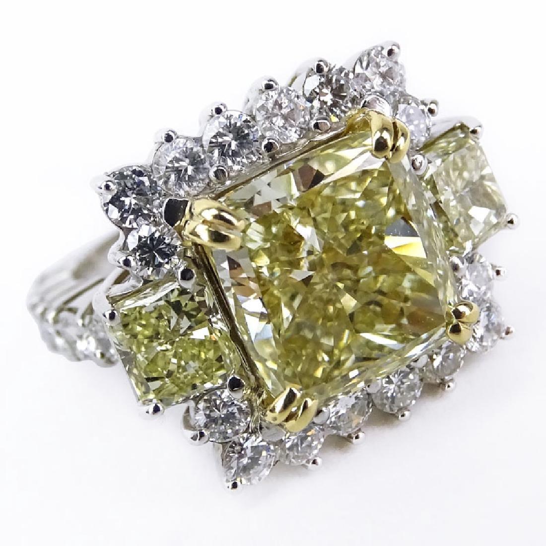 Approx. 8.71 Carat TW Fancy Yellow Diamond, White