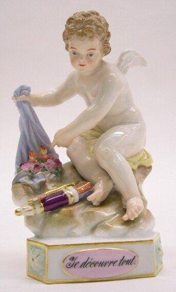 "2003: 19th Century Meissen Porcelain Figural Group ""Te"