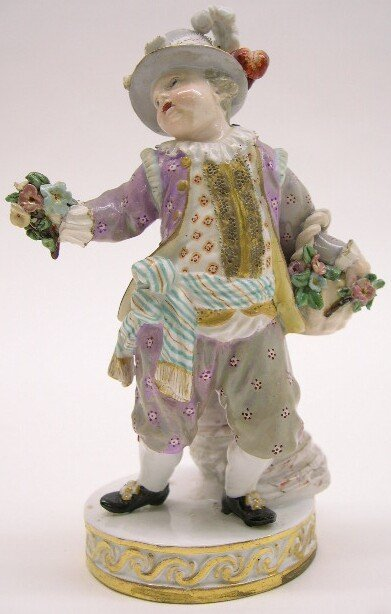 "2004: 19th Century Meissen Porcelain Figural Group ""The"