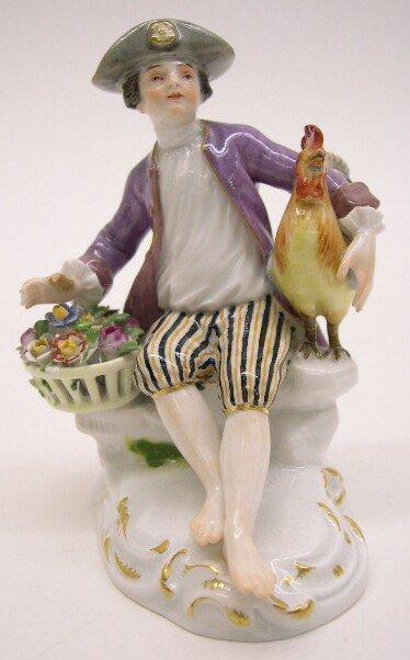 "2005: 19th Century Meissen Porcelain Figural Group ""Bar"