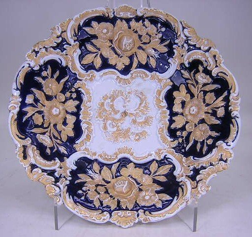 2021: Hand Painted Meissen Porcelain Bowl with Cobalt B
