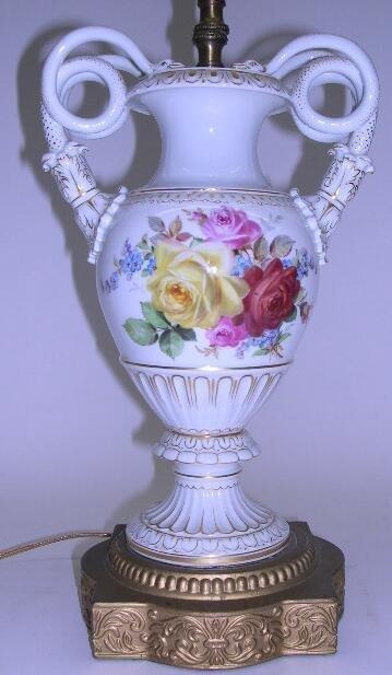 2022: 19th Century Hand Painted Meissen Porcelain Urn w