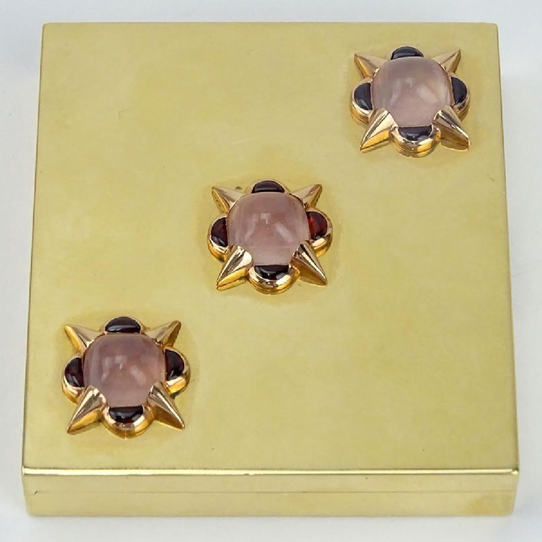 Vintage Verdura 14 Karat Yellow Gold and Gemstone