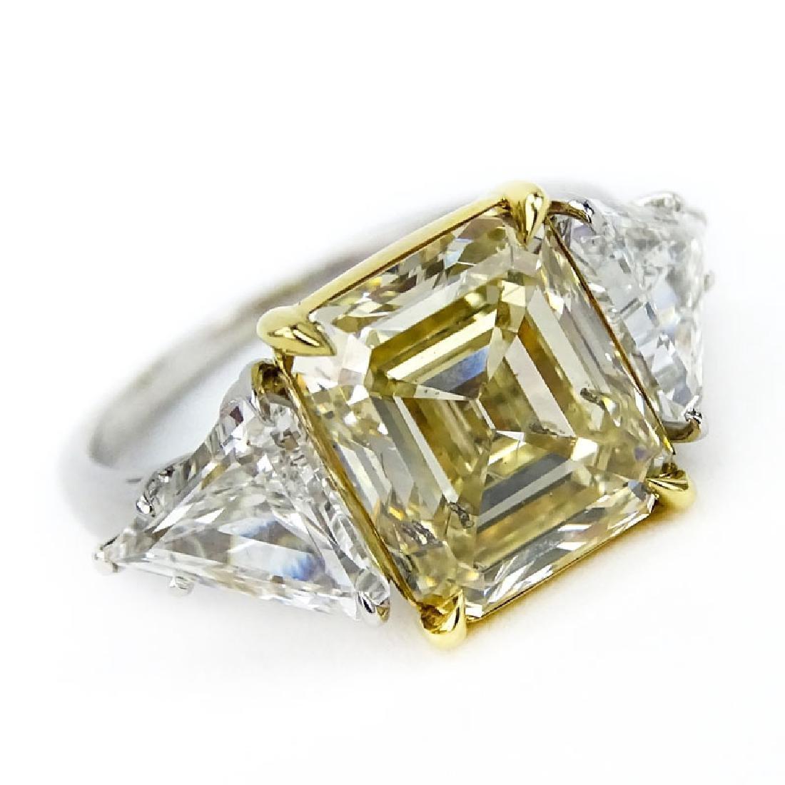 GIA Certified 4.29 Carat Emerald Cut Fancy Yellow