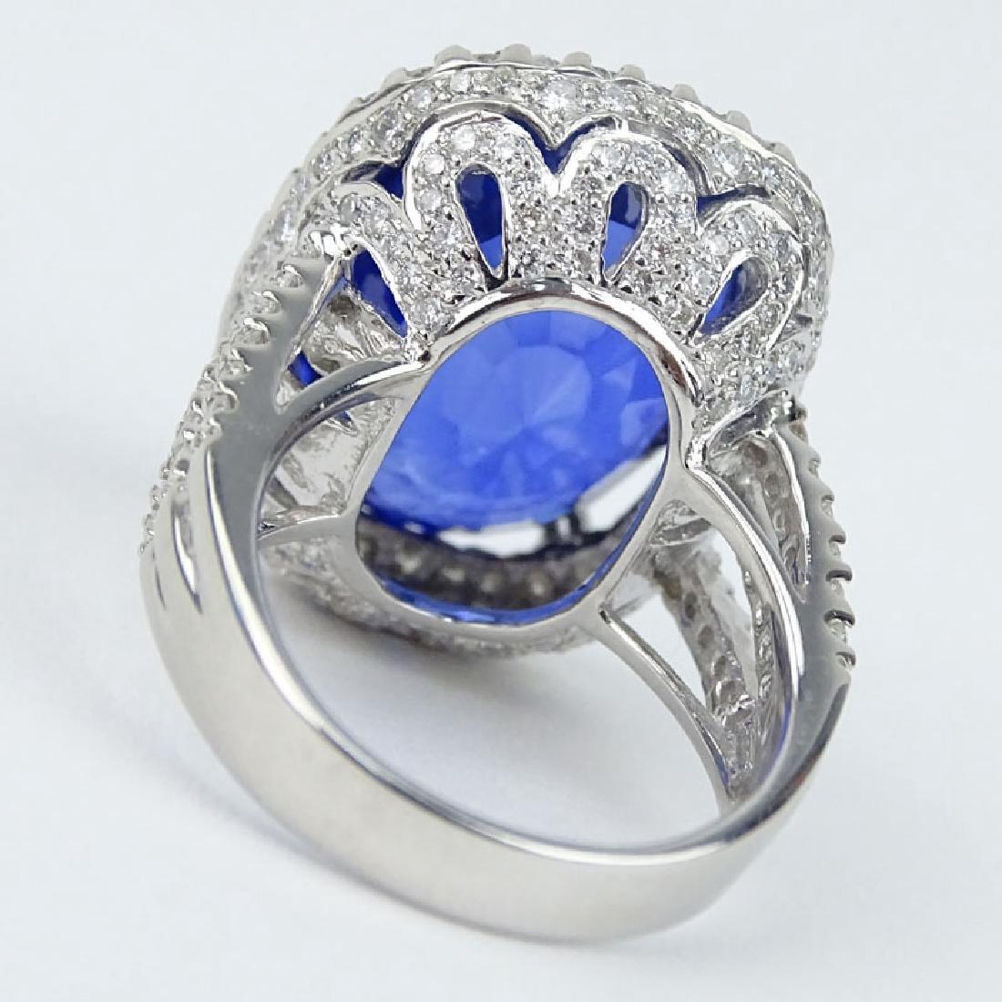 24.14 Carat Oval Cut Royal Blue Sapphire, 2.08 Carat - 2