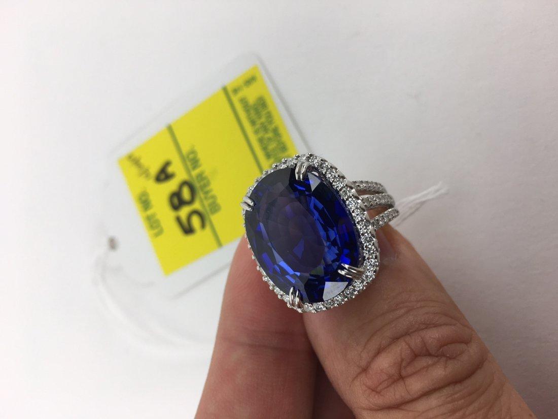 24.14 Carat Oval Cut Royal Blue Sapphire, 2.08 Carat - 3