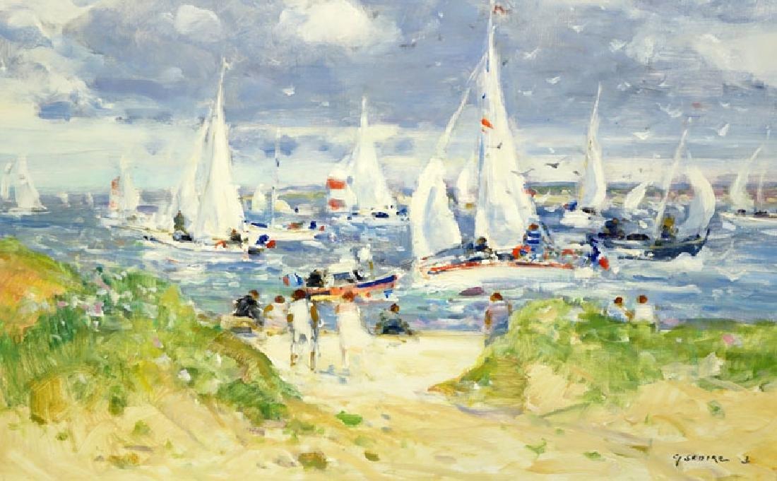 Gaston Sebire, French (1920-2001) Oil on Canvas - 3