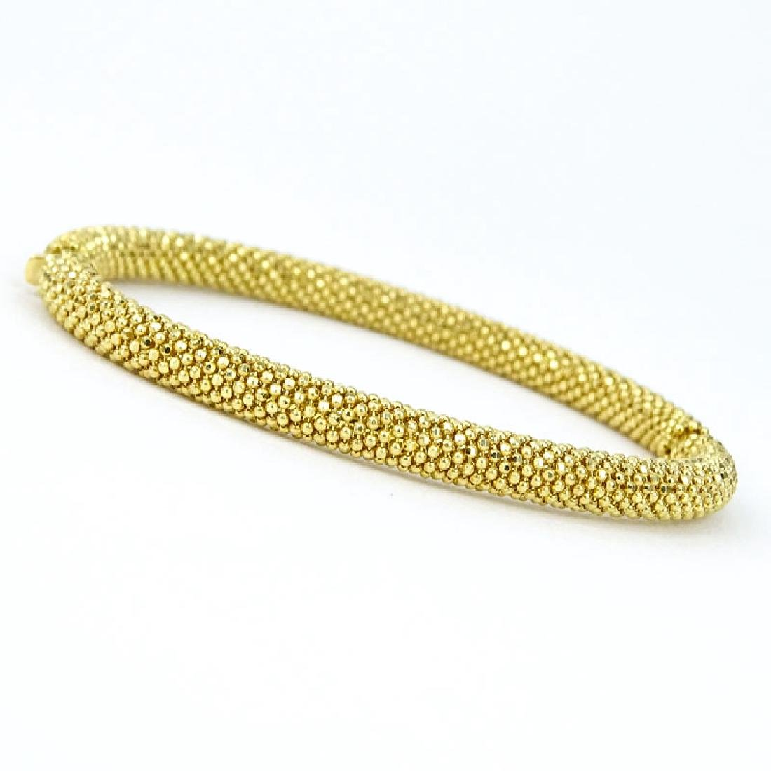 Vintage Italian 18 Karat Yellow Gold Beaded Hinged