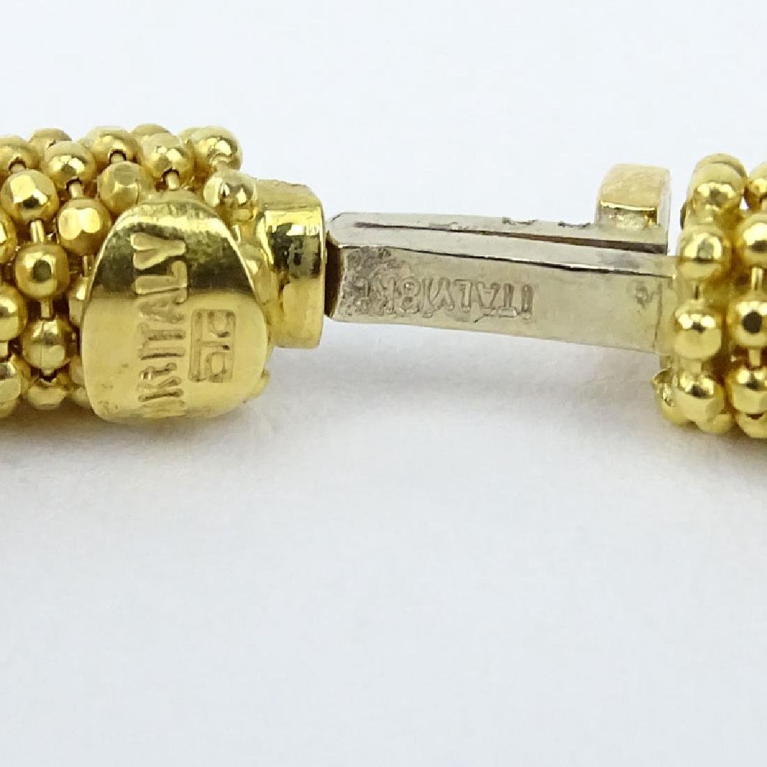 Vintage Italian 18 Karat Yellow Gold Beaded Hinged - 2