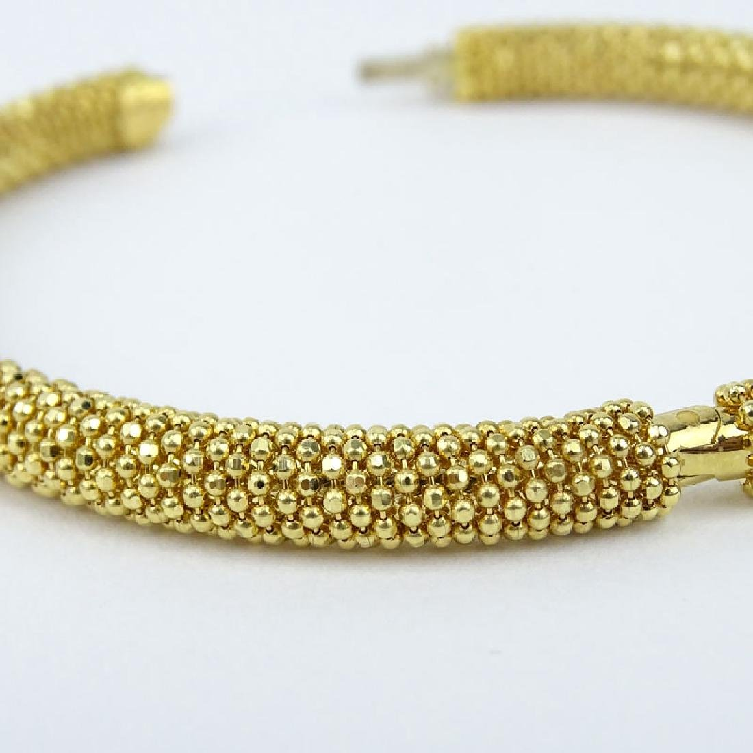 Vintage Italian 18 Karat Yellow Gold Beaded Hinged - 3