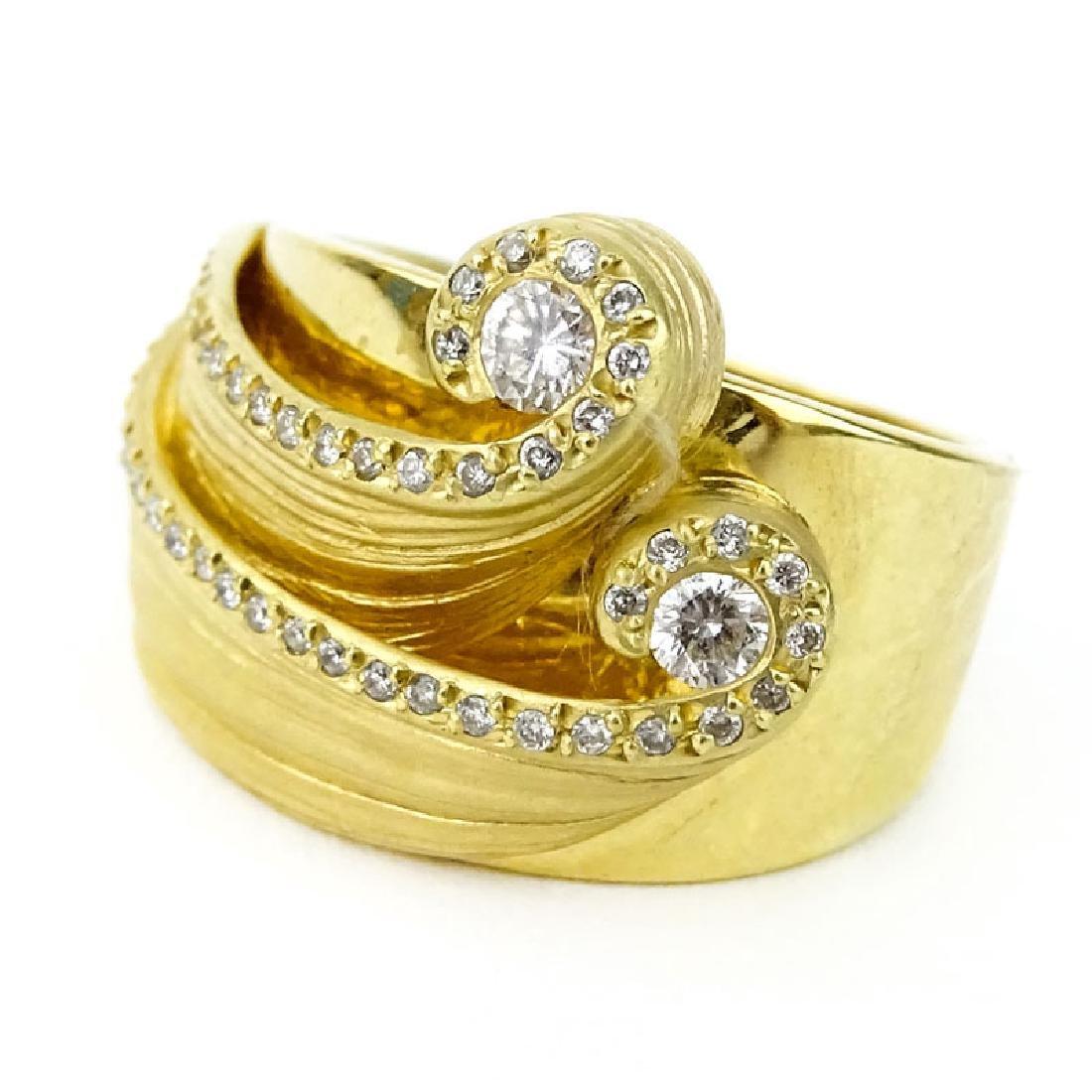 Vancox Approx. .75 Carat Diamond and 18 Karat Yellow
