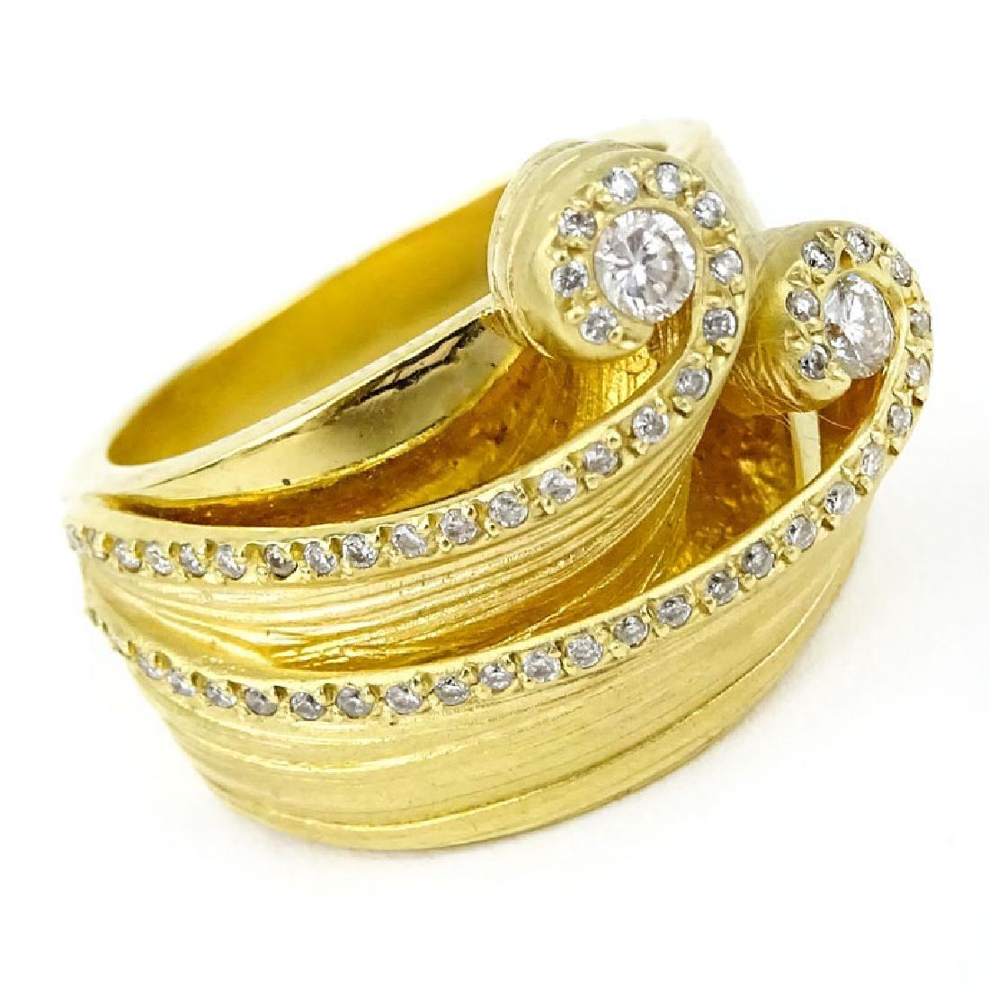 Vancox Approx. .75 Carat Diamond and 18 Karat Yellow - 2