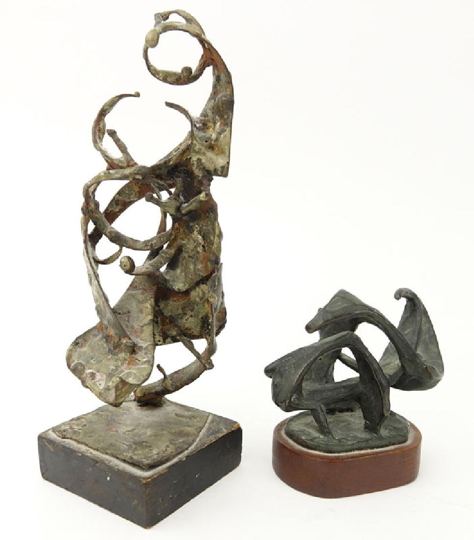 Grouping of Two (2) Mid Century Abstract Bronze and - 2