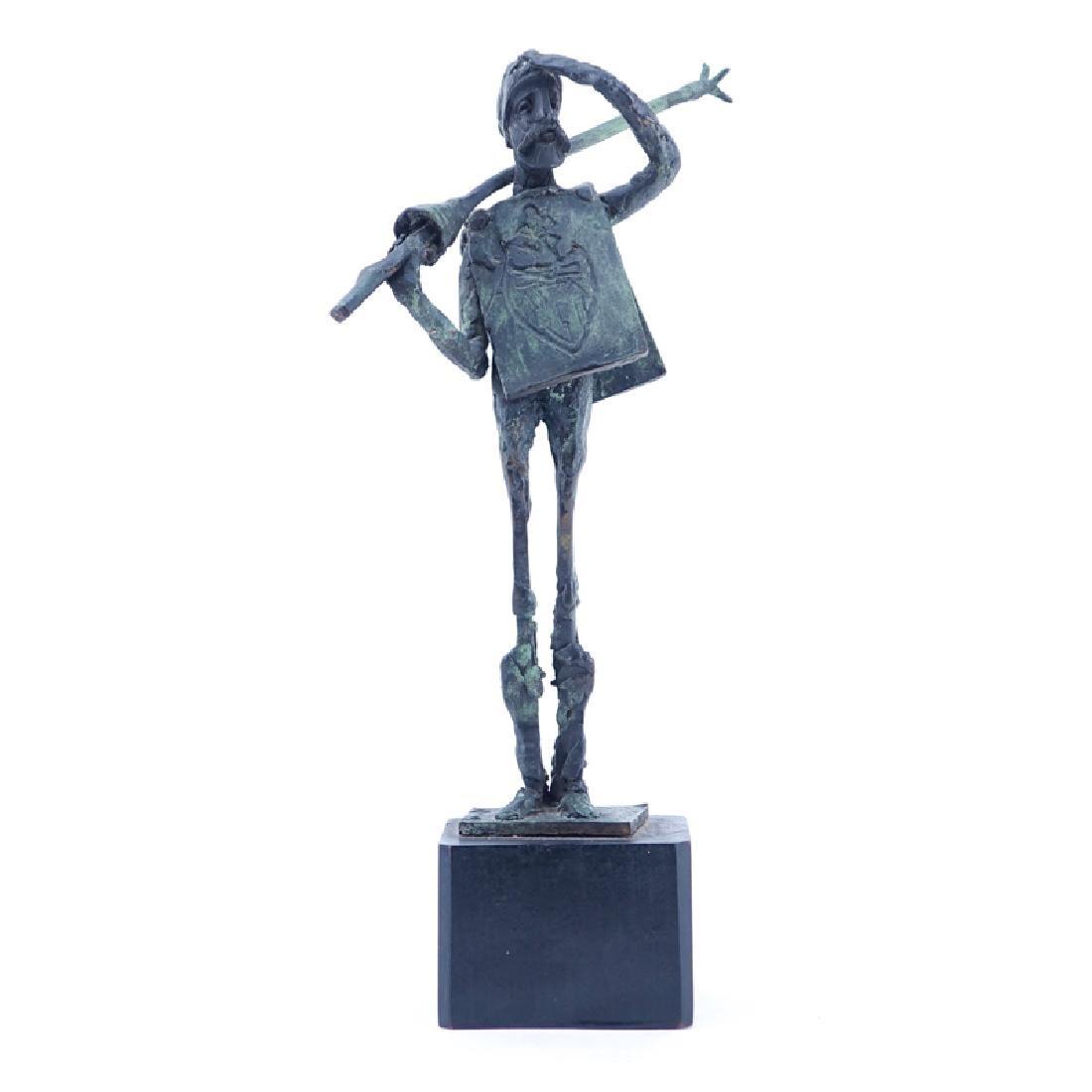 """""""Don Quixote"""" Metal Sculpture Signed R. Barnes. Dated"""