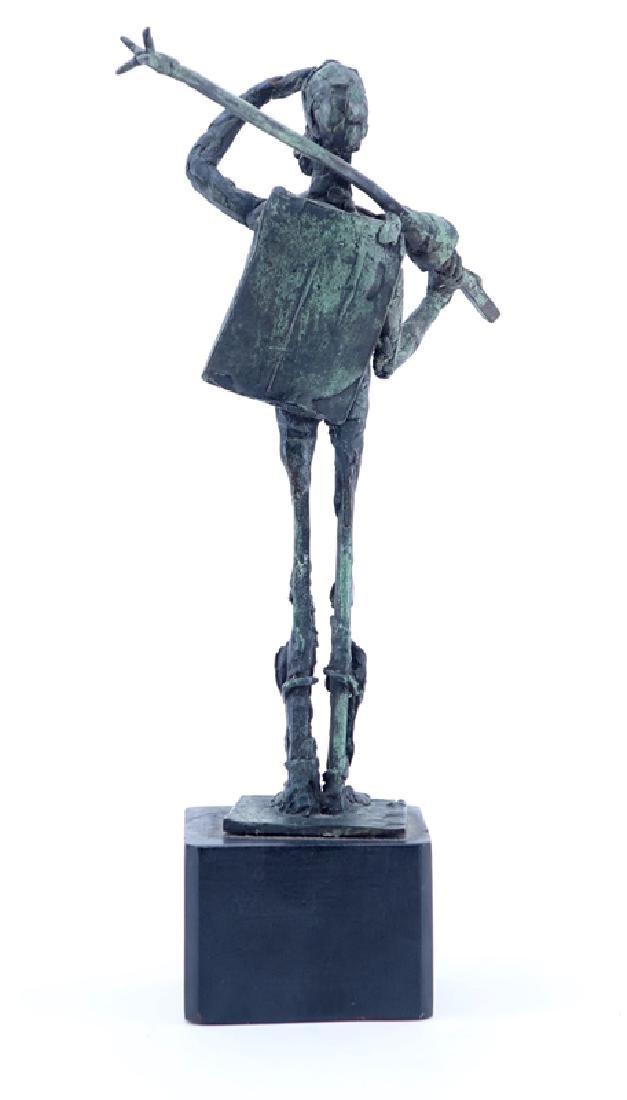 """""""Don Quixote"""" Metal Sculpture Signed R. Barnes. Dated - 2"""