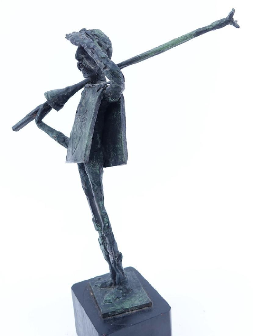 """""""Don Quixote"""" Metal Sculpture Signed R. Barnes. Dated - 4"""