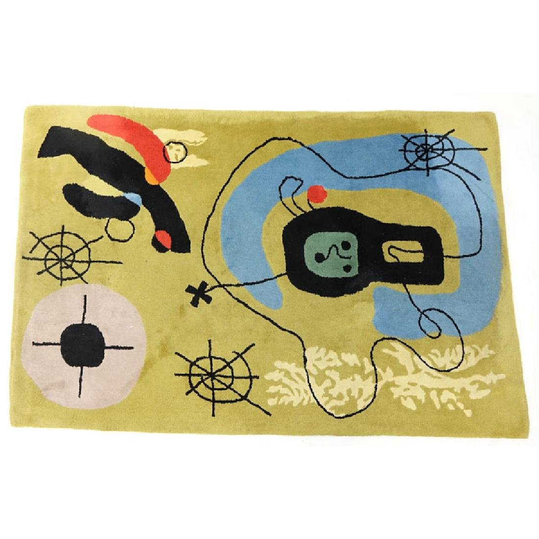 After Joan Miro, Spanish (1893-1983) Wool Rug/Tapestry