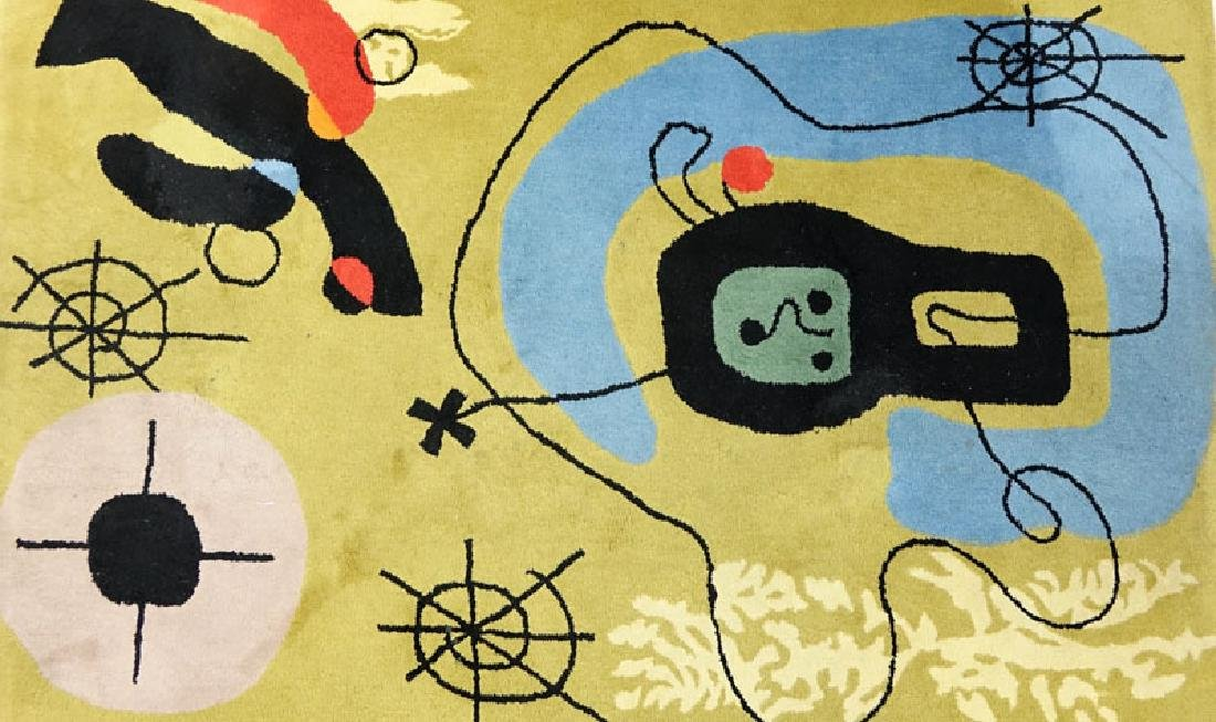 After Joan Miro, Spanish (1893-1983) Wool Rug/Tapestry - 2
