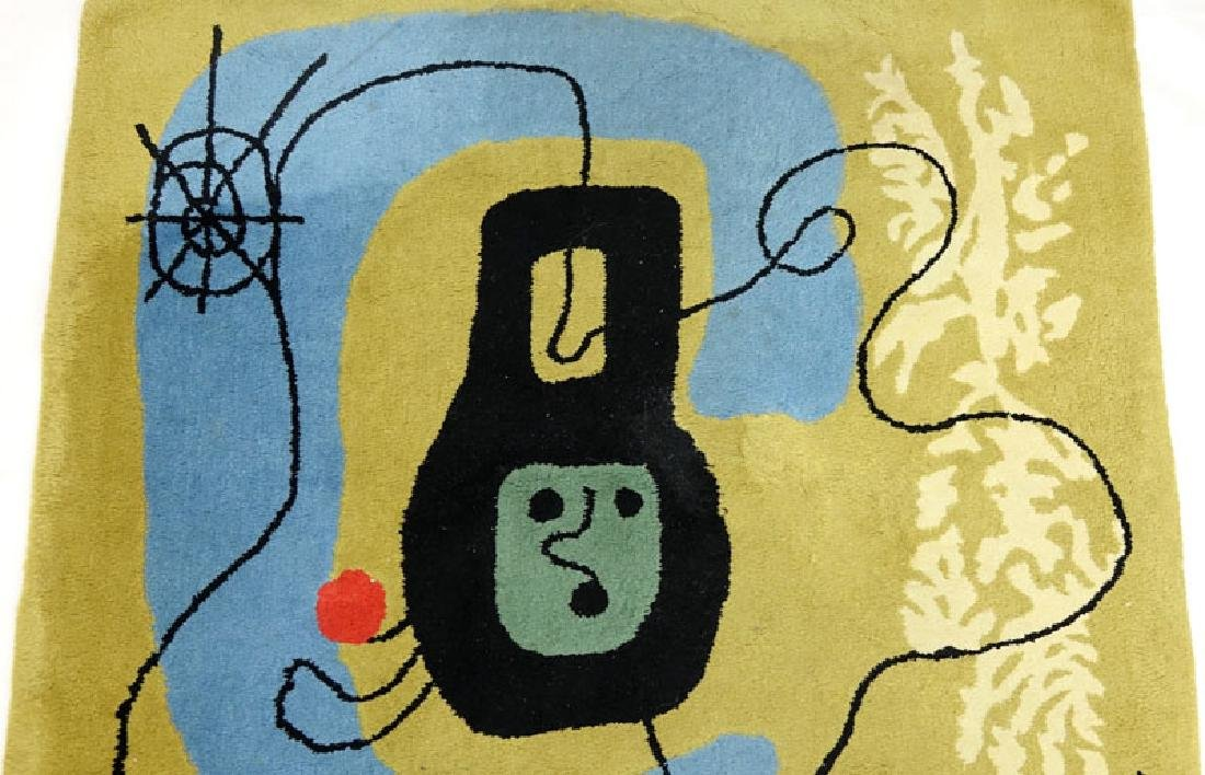 After Joan Miro, Spanish (1893-1983) Wool Rug/Tapestry - 3