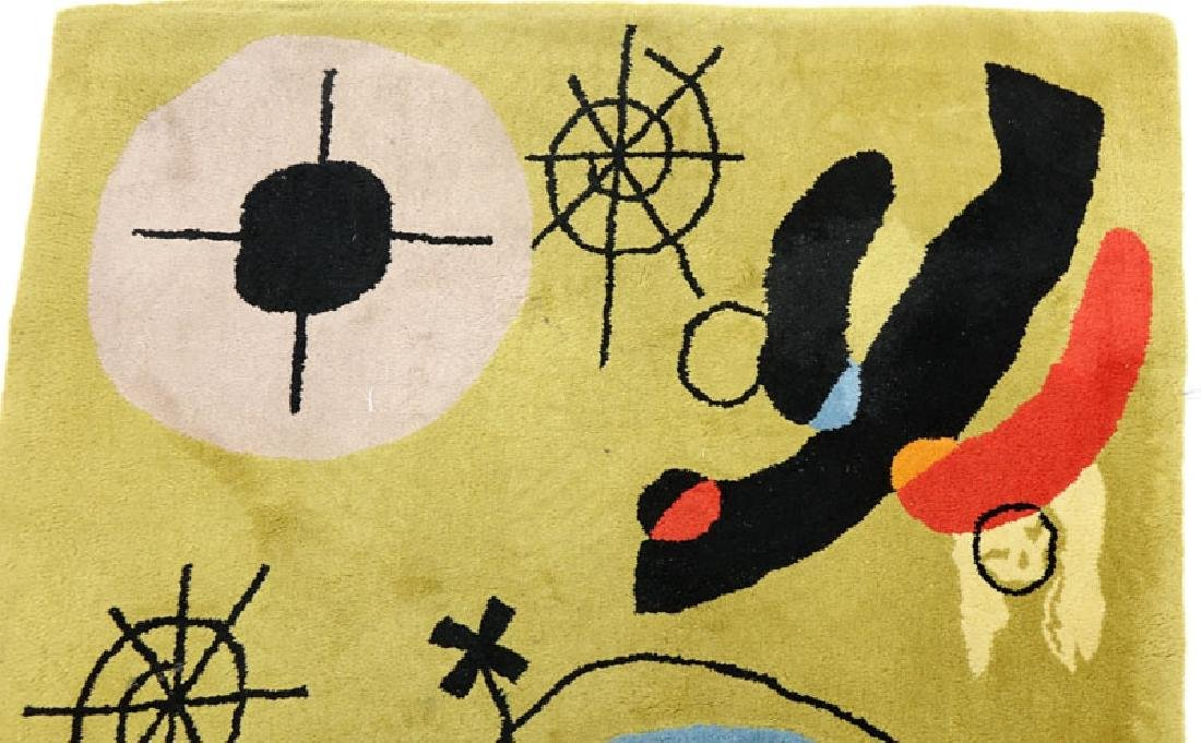 After Joan Miro, Spanish (1893-1983) Wool Rug/Tapestry - 4
